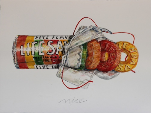 Don Nice,<em> Life Saver Rainbow,</em> 2014 <span>30 x 22 ½ inches; watercolor</span>