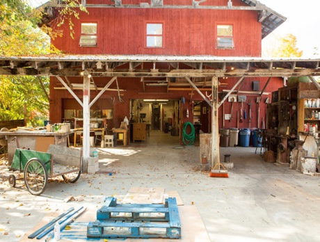 Vermont Studio Center's Schultz Sculpture Shop<span>Photo courtesy Monica Jane Frisell (www.monicafrisell.com) </span>
