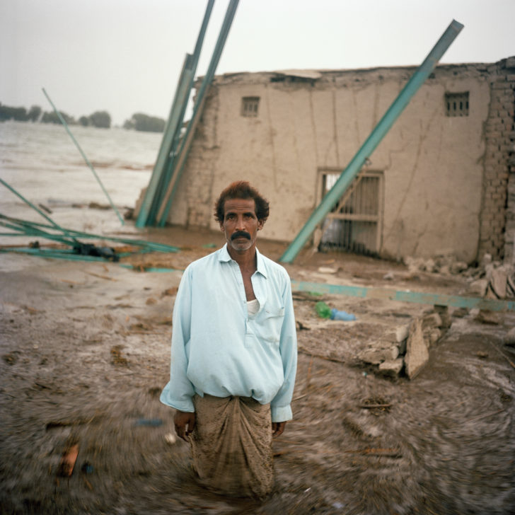Gideon Mendel, <em> Haji Sharif.Kando Khan Bozdar Village, Pakistan, September 2010.</em><span>Lightjet C type photographic print on Fuji Crystal Archive Paper, 100 x 100 cm</span>